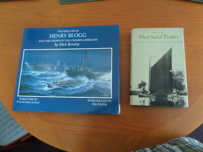 £10 • Buy Two Norfolk Books ( Black Sail Traders + The Rescues Of Henry Blogg )