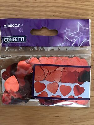 £1.79 • Buy Embossed Red Love Heart Table Confetti Engagement Party Decorations Wedding
