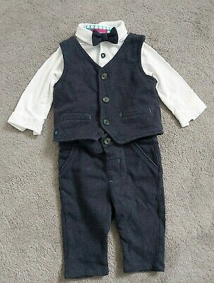 £8 • Buy BNWOT Ted Baker Baby Boys' Formal 3 Piece Set, Checked Bow Tie Suit 3-6 Months.