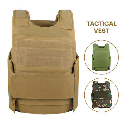 $22.88 • Buy Tactical Vest Military Plate Carrier Molle Police Airsoft Combat SWAT Hunting US
