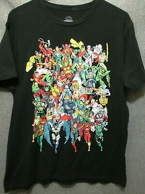 £7.05 • Buy Dc Comic Book Character Collage Graphic S/s T-shirt Adult Men's Large