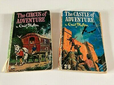 £13 • Buy 2 Rare Vintage Enid Blyton The Circus Of Adventure, The Castle Of Adventure 1955
