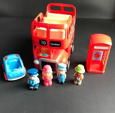 £9.99 • Buy Early Learning Centre Elc Happyland London Bus,telephone Box & Figures Toy