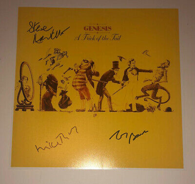 £79.99 • Buy SIGNED GENESIS TRICKS OF THE TAIL 12x12 PHOTO RUTHERFORD HACKETT BANKS AUTHENTIC