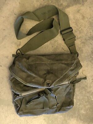$75 • Buy Early Vietnam M3 Medic Rubberized Canvas Aid Bag W/ Stamped Shoulder Strap Army