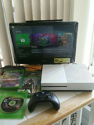 AU189.08 • Buy Microsoft Xbox One S Model 1681 White Console 500 GB And Bundle Games