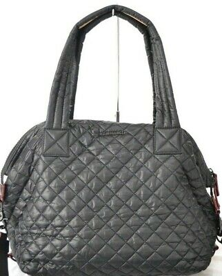 $52 • Buy MZ Wallace Nylon Quilted Medium Sutton Black Bag $235.00 #617SW