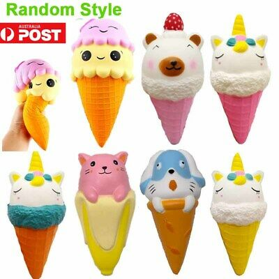 AU21.70 • Buy AU Squishy Ice Cream Slow Rising Soft Squishes Toys Stress Relief Toy Kids Gift