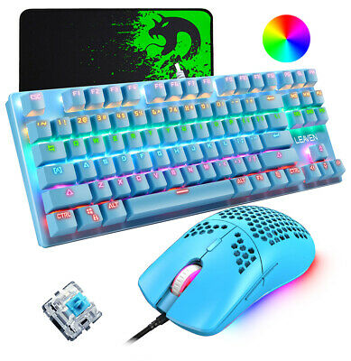 AU65.89 • Buy Wired Gaming Keyboard And Mouse Combo Mechanical Rainbow Backlit For PC PS4 XBox