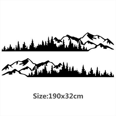$25.10 • Buy Tree Mountain Forest Decal Vinyl Sticker For Car Truck SUV RV Trailer Side Body