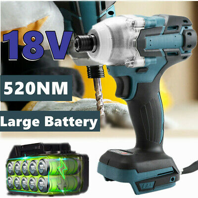 £24.99 • Buy UK 1''4 18V Electric Impact  Driver Wrench Cordless Brushless For Makita Battery