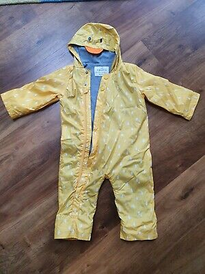 £6.50 • Buy M&S Baby Unisex Yellow Duck Puddlesuit 12-18 Months