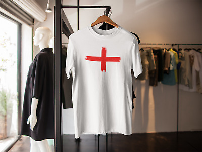 £8.99 • Buy England T Shirt St George Cross Inspired Euro 2021 Adults Kids