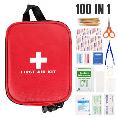 £6.19 • Buy 100 Pcs First Aid Kit Bag Medical Emergency Kit Travel Home Car Taxi Workplace