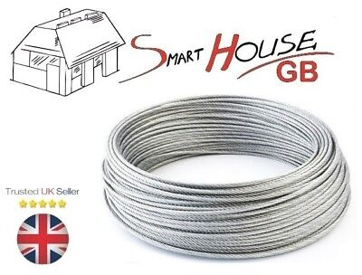 £2.48 • Buy 6mm Stainless Steel AISI316 Wire Rope A4 Marine Grade Cable 7x19 Price Per Meter