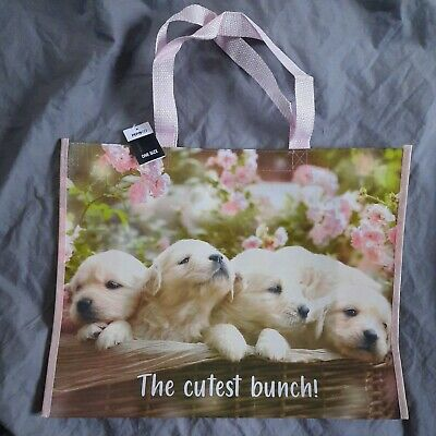 £3.87 • Buy Golden Retriever Puppies Tote Shopping Bag For Life  The Cutest Bunch Photo Bag