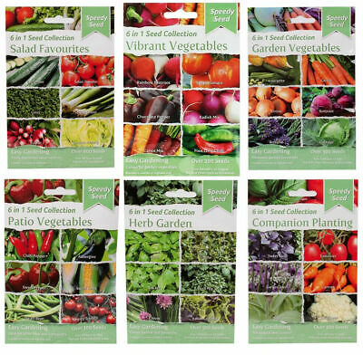 £2.79 • Buy Speedy Seed Collection 6 In 1 Herb Garden Salad Spicy Christmas Vegetables BNIP