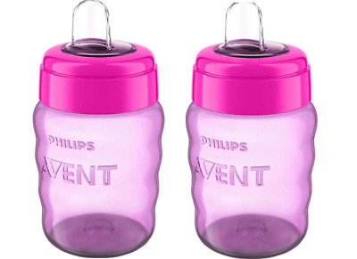 £6.99 • Buy 2 X Philips Avent Easy Sip Spout Cup Mug / 260ml PINK 0% BPA *FREE UK Post