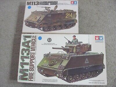 $65 • Buy Two Tamiya 1/35 M113's; Motorized M113 APC; Static M113A1 Fire Support Vehicle