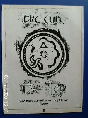 £5.99 • Buy THE CURE - ROBERT SMITH - 1984 TOP  - A4  MAGAZINE POSTER ADVERT 1980s Original