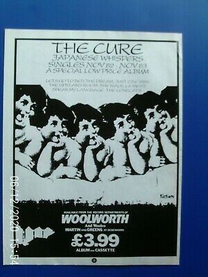 £3.99 • Buy THE CURE - ROBERT SMITH - JAPANESE  A4  MAGAZINE POSTER ADVERT 1980s Original
