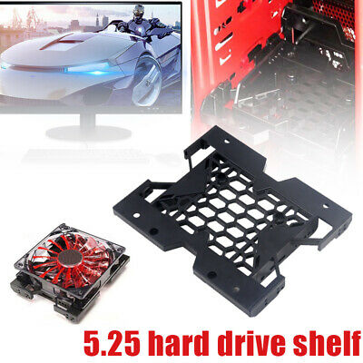AU9.99 • Buy 5.25  To 3.5  2.5  SSD HDD Tray Caddy Case Adapter Cooling Fan Mount Bracket
