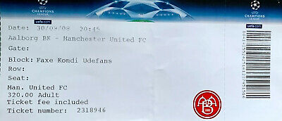£2.61 • Buy Aalborg Vs Manchester United, Champions League Match Ticket.