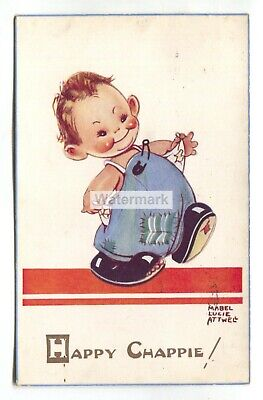 $2.75 • Buy Mabel Lucie Attwell Postcard No. 1318 -  Happy Chappie!  - 1940's