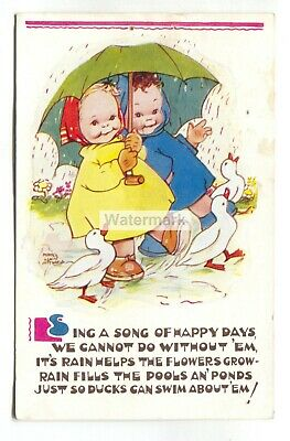 $2.75 • Buy Mabel Lucie Attwell Postcard No. 5324 -  Sing A Song Of Happy Days  - 1950's