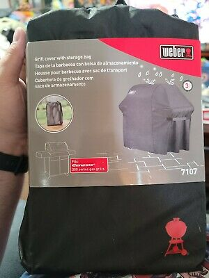 $ CDN65.98 • Buy Weber 7107 Grill Cover (44in X 60in) With Storage Bag For Genesis 300 Gas Grills