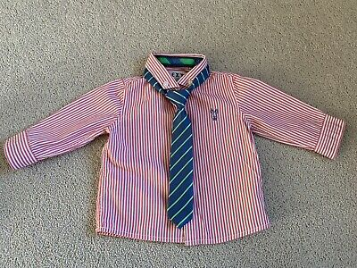 £1.49 • Buy Gorgeous Baby Boy Striped NEXT Shirt & Tie Age 3-6 Months In Excellent Condition