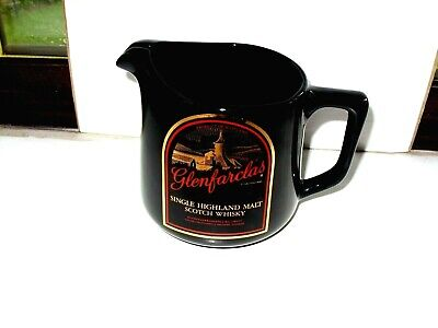 £10.99 • Buy  Small Glenfarclas Scotch Whisky Water Jug Black/red/gold Made By HCW  VGC