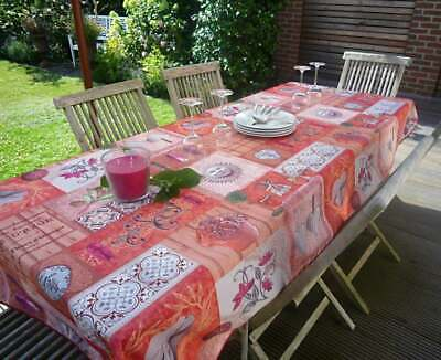 £26.42 • Buy Tablecloth Provence 150x300 CM Red Pink Cicadas Olives From France Non-Iron