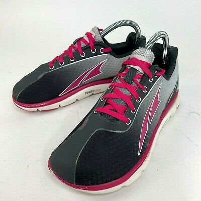 $32.99 • Buy Altra Womens One 2.5 Zero Drop Black Grey Pink Running Shoes Lace Up Size 7.5