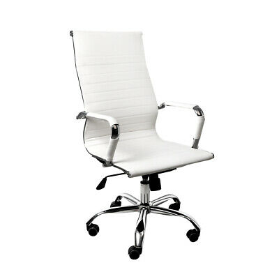 AU122.34 • Buy Office Chair Gaming Chair Home Work Study PU Mat Seat High-Back Computer White