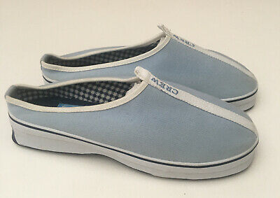 AU27.65 • Buy Crew Clothing Women's Blue Canvas Shoes Size 4UK Slip On 'CREW' Spell Out BNWOT