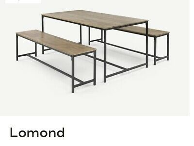 £200 • Buy Made.com Lomond Dining Table In Black And Mango Wood