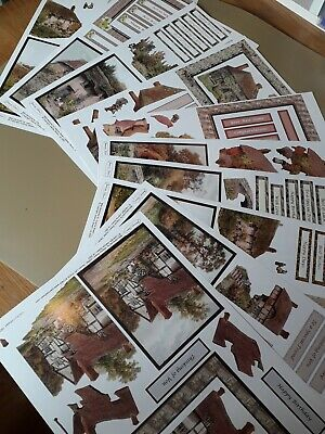 £1.50 • Buy Joanna Sheen 10 A4 Non Diecut Decoupage Sheets. Country  Cottages