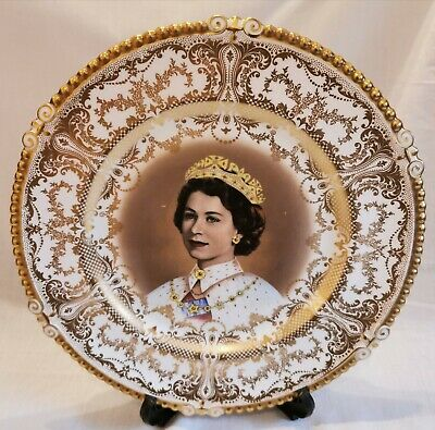 £170 • Buy Aynsley Plate Queen Coronation 1953 Cups At Westminster Abbey 2 June 1953