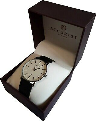 £24.99 • Buy Accurist Mens Analogue Wristwatch Leather Strap 7123 - NEW BOXED WITH TAGS
