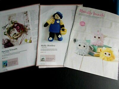 £0.99 • Buy 3 Crochet Patterns For 2 Animals & Spring Wreath