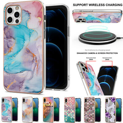 AU14.89 • Buy For IPhone 11 12 Pro Max 7 8 Shockproof Marble Soft TPU Silicone Back Case Cover