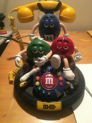 $50 • Buy M&M's Candy ANIMATED Talking Light-Up TELEPHONE Phone Red Green Blue Couch