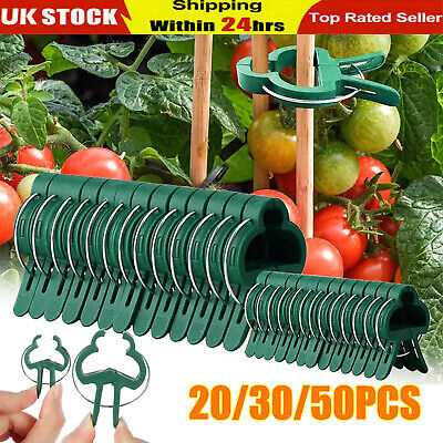 £3.49 • Buy 30/50 Garden Plant Clips Seedlings Plants Support Tools Small Large Grow 2 Sizes