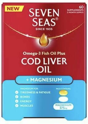 £7.95 • Buy Seven Seas Joint Omega-3 Cod Liver Oil And Magnesium + Vitamin D 60 Capsules