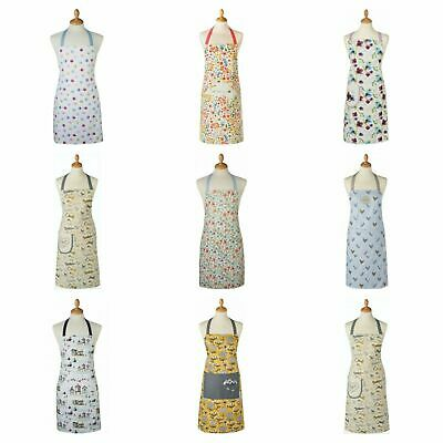 £6.99 • Buy Cooksmart Cotton Apron Dress With Pocket Pattern Women Cooking Baking Chef Gift