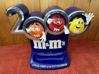 $34.76 • Buy M&M's 2000 Official Candy Of The New Millennium Dispenser Lights Up Vintage