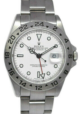 $ CDN12022.01 • Buy Rolex Explorer II Stainless Steel White Dial Mens 40mm Automatic Watch Z 16570