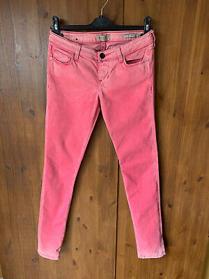 £5.95 • Buy GUESS JEANS Faded Pink Low Rise Skinny UK 10 / 28  Waist / 32  Leg - VGC