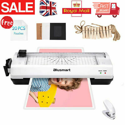 £21.99 • Buy A4 Laminator Machine With 20 Free Pouches & Corner Trimmer & Paper Grid Trimmer